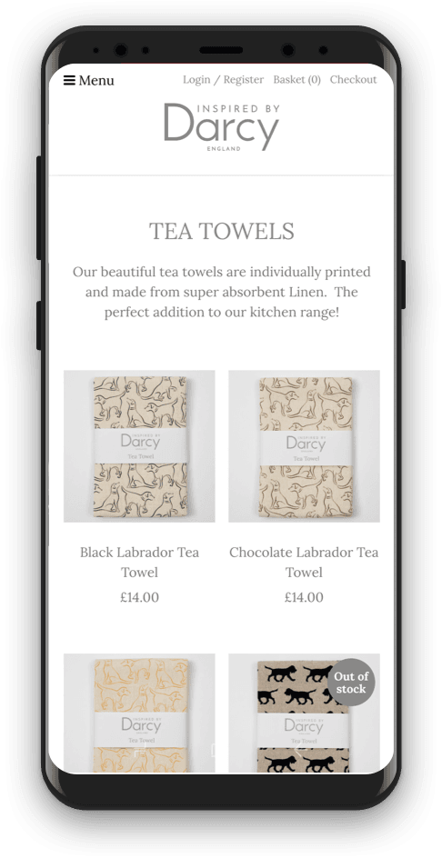 Distinctive UK Website Example
